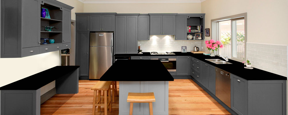 Grey Granite Kitchen Virtual Showroom Granite Tops UK - Colours to go with grey kitchen