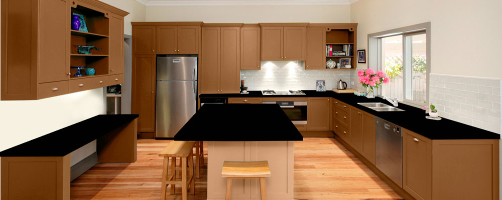 Oak granite kitchen virtual showroom granite tops uk for Kitchen units and worktops